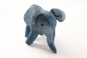 Rebellenclub Knuffel Recycled Jeans - Olifant - Rebellenclub