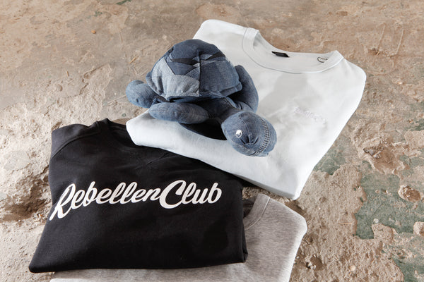 Knuffel Recycled Jeans - Schildpad - Rebellenclub