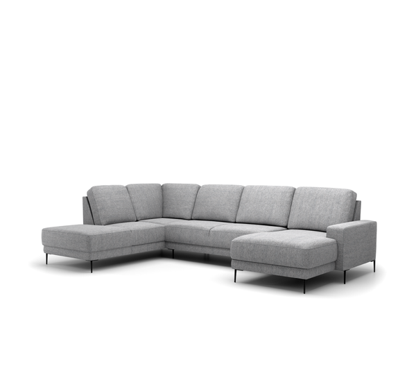 Malmo U-opstelling - Chaise Longue rechts en Hoekeiland links - Unit 68 Dark Grey - Rebellenclub