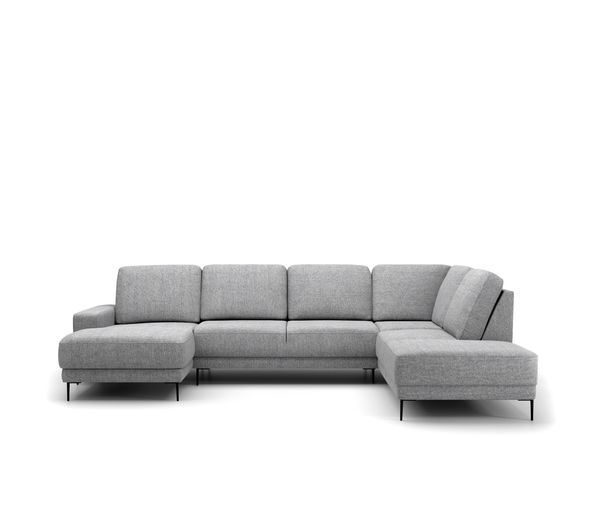 Malmo U-opstelling - Chaise Longue links en Hoekeiland rechts - Unit 68 Dark Grey - Rebellenclub