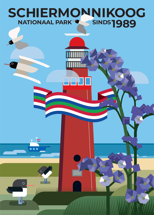 Ontwerpwedstrijd Nationale Parken Kaart - The Visualist - Schiermonnikoog - Rebellenclub