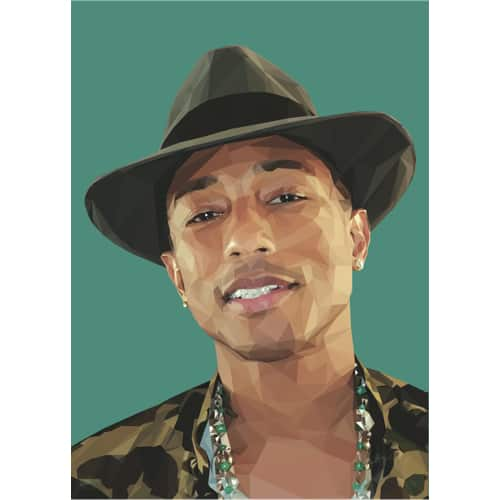 Rebellenclub x LISA poster 50 x 70 cm: Pharrel - Rebellenclub