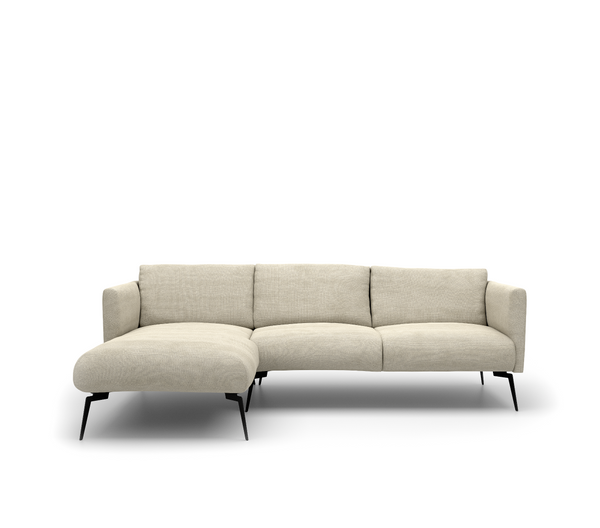 Stockholm 2,5-Zits + Chaise Longue Links - Bloq 05 Beige - Rebellenclub