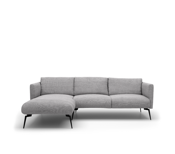 Stockholm 2,5-Zits + Chaise Longue Links - Bloq 167 Zinc - Rebellenclub