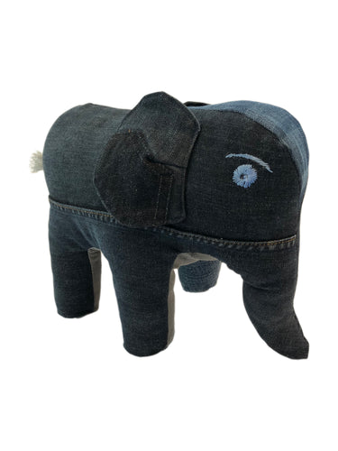 Rebellenclub Knuffel Recycled Jeans - Olifant