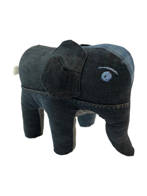 Knuffel Recycled Jeans - Olifant - Rebellenclub