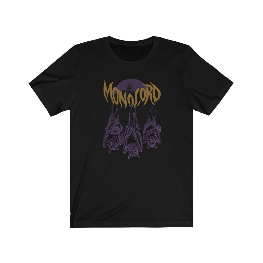 3 BATS MONOLORD - Unisex Jersey Short Sleeve Tee SHIPS FROM THE UK