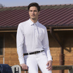 "Equitheme Men's ""Mesh"" Long Sleeved Competition Polo Shirt - Male Equestrian"