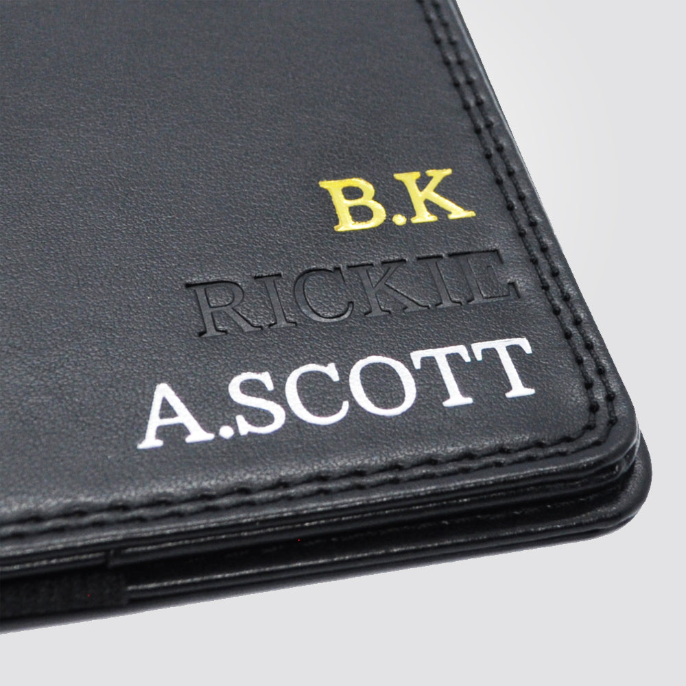 Personalised Premium Golf Scorecard Holder (Black)