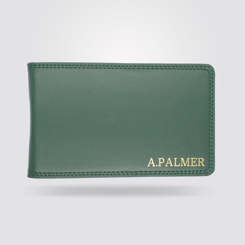 Personalised Premium Golf Scorecard Holder (Green)