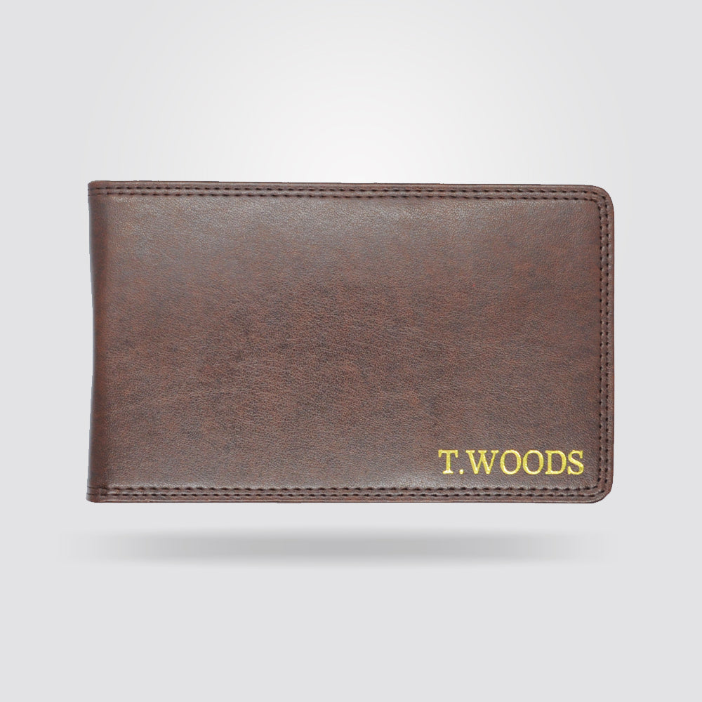 Personalised Premium Golf Scorecard Holder (Brown)