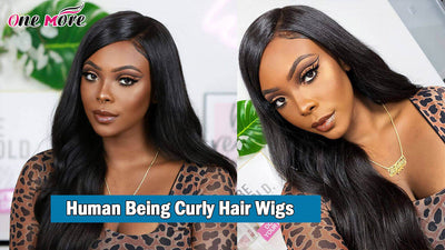 Human Being Curly Hair Wigs