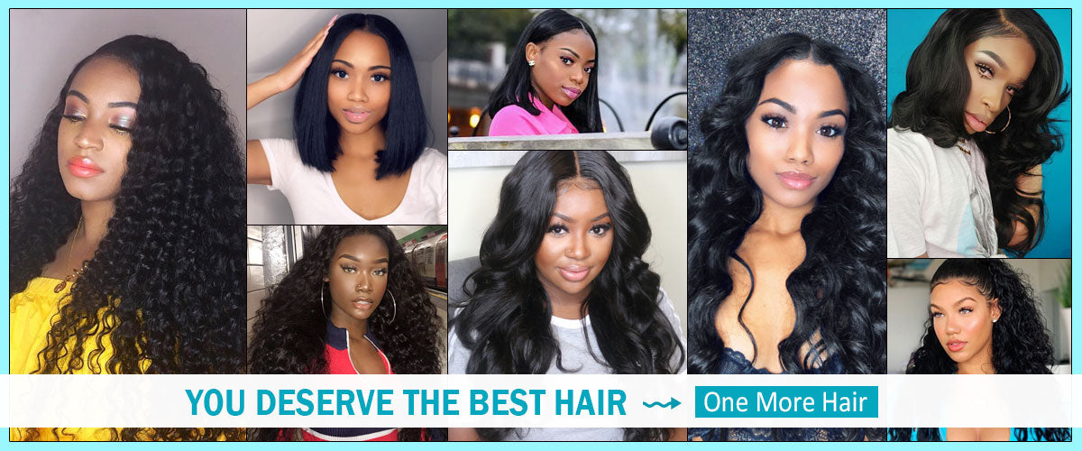 One More Hair Brazilian Curly Hair 3 Bundles with 4*4 Lace Closure