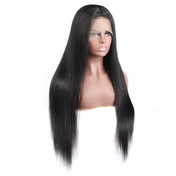 natural color straight wig