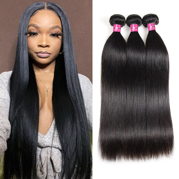 Straight Hair Human Hair Weave Extensions