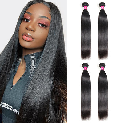 Brazilian Straight Hair Weave 4 Bundles