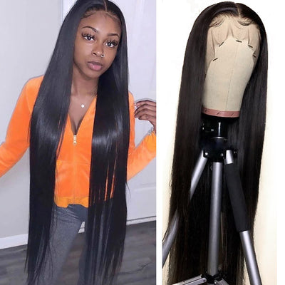 long silk straight wig