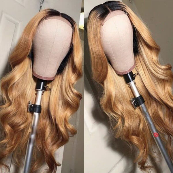two tone honey blonde wig