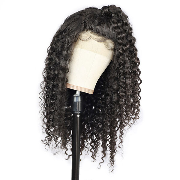 Virgin Hair 4*4 Lace Front Wig Deep Wave Glueless Human Hair Wigs-One More Hair