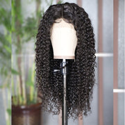 curly 4*4 Lace Front Wig Human Hair Wigs