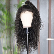 transparent  closure wig curly wave