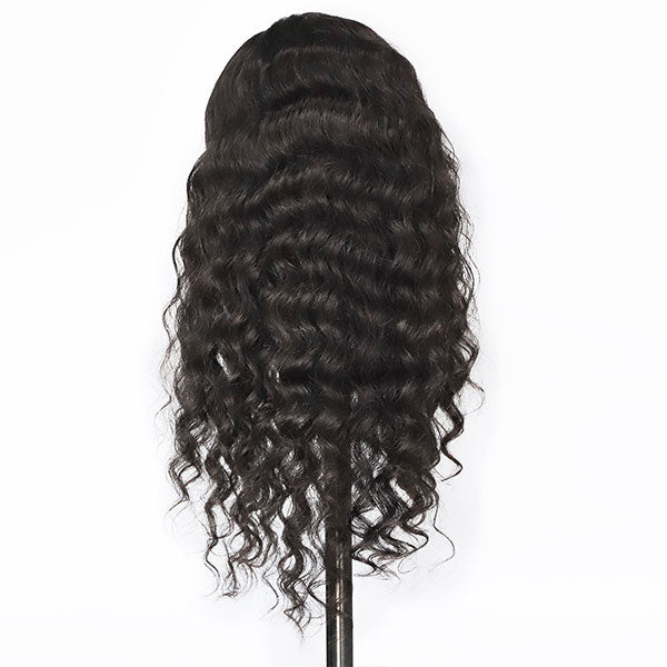 loose deep wig with baby hair