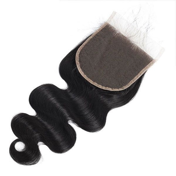 New Arrival Body Wave Hair 3 Bundles With Transparent 4*4 Lace Closure