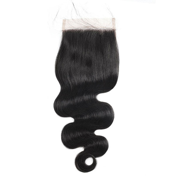 body wave 3 bundles with transparent 4x4 closure