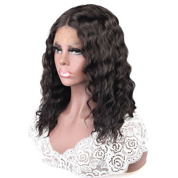 pre plucked water wave wig