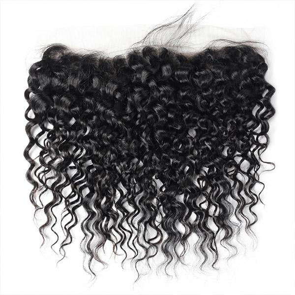 Virgin Brazilian Water Wave Hair 13*4 Lace Frontal Closure - OneMoreHair