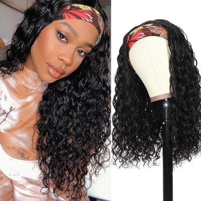 machine made wig with headbands