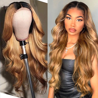 Honey Blonde Ombre Wig
