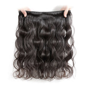 Virgin Indian Body Wave Hair 3 Bundles With 4*4 Lace Closure