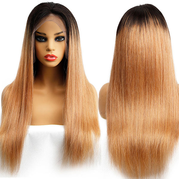 1B/27 Color Lace Front Human Hair Wig