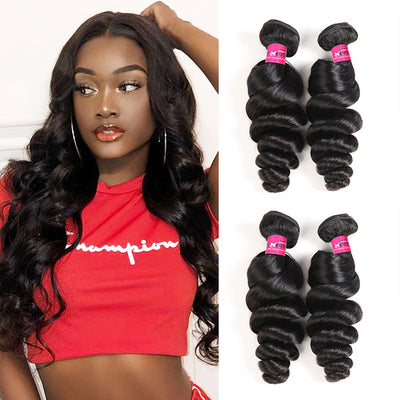 Virgin Brazilian Loose Wave Hair 4 Bundles