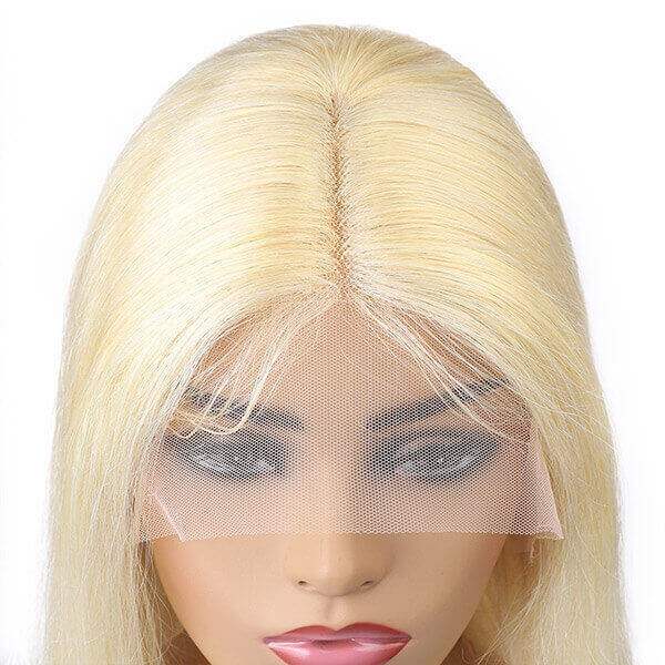 Blonde Bob Wig Glueless T Part Lace Front 613 BOB Wig One More Hair