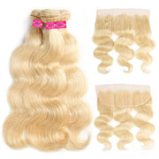 Pure 613 Body Wave Hair 3 Bundles With 13*4 Lace Frontal - OneMoreHair