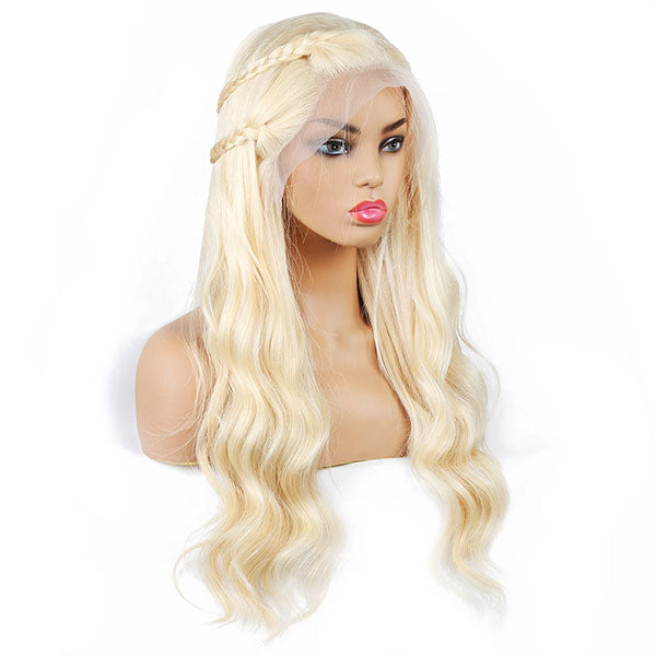 613 Blonde Color Body Wave Wig 13*4 Lace Front Human Hair Wigs One More Hair