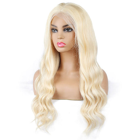 613 Blonde Color Body Wave Wig 13*4 Lace Front Human Hair Wigs One More Hair - OneMoreHair