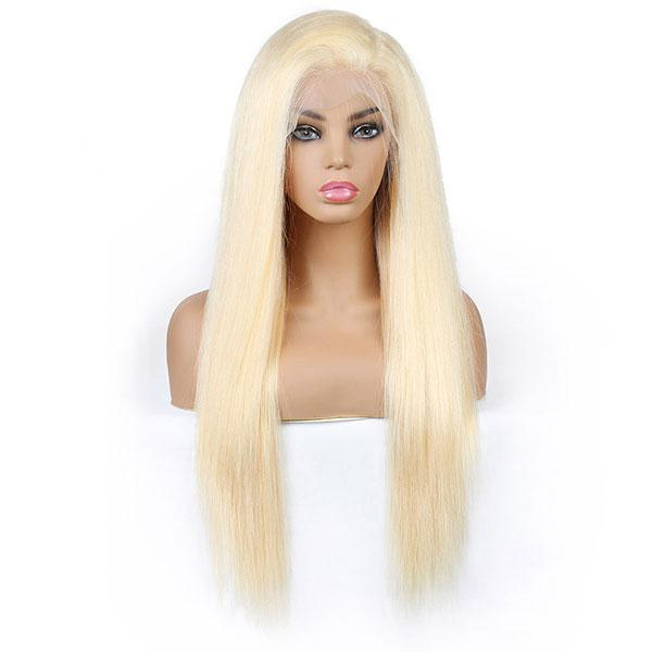 613 Blonde Color Straight Hair 13*4 Lace Front Wig Human Hair Wigs One More Hair - OneMoreHair