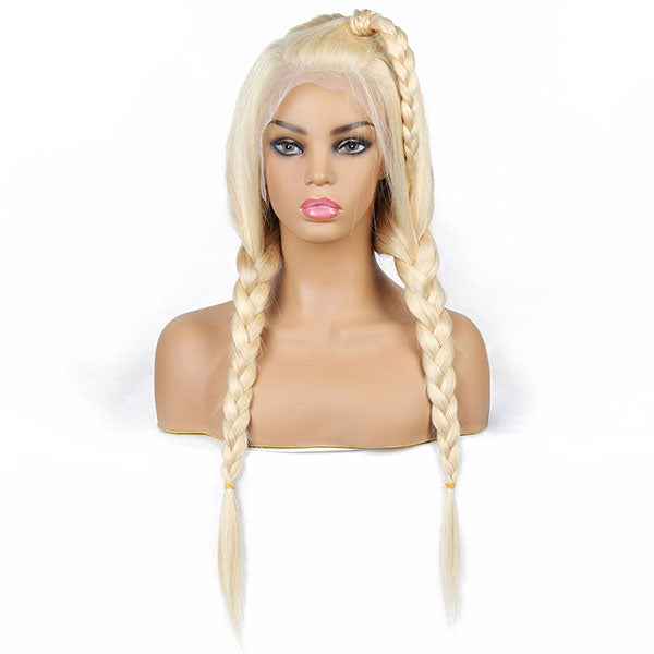 613 Blonde Straight Hair 13*4 Lace Front Wig Glueless Human Hair Wigs One More Hair