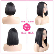 T Part Straight Hair Short Bob Wig Human Hair Lace Front Wigs - OneMoreHair