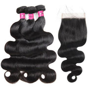 10A Grade Body Wave Remy Hair 3 Bundles With 5x5 Lace Closure - OneMoreHair