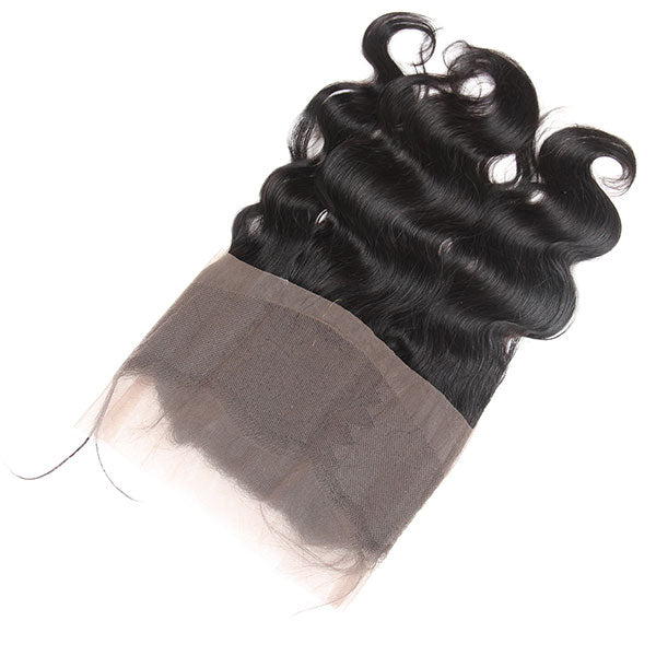 Virgin Brazilian Body Wave Hair 360 Lace Frontal 1 Piece