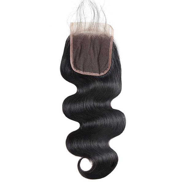 10A Body Wave Hair 4*4 Lace Closure Brazilian Human Hair Lace Closure - OneMoreHair