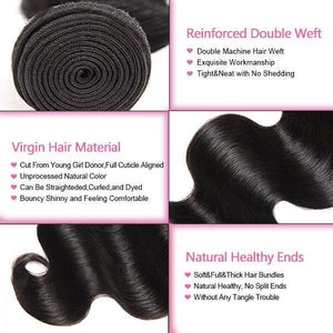 One More Virgin Malaysian Body Wave Hair 3 Bundles Deals - OneMoreHair