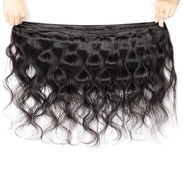 Virgin Peruvian Hair Body Wave 3 Bundles Human Hair Weave - OneMoreHair