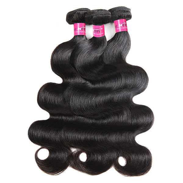 Virgin Peruvian Hair Body Wave 3 Bundles Human Hair Weave