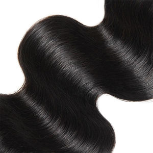 Peruvian Body Wave Hair 4 Bundles with 4*4 Lace Closure 10A One More Hair - OneMoreHair