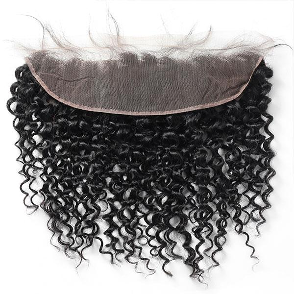 Virgin Brazilian Curly Hair 4 Bundles with 13*4 Lace Frontal Closure One More - OneMoreHair